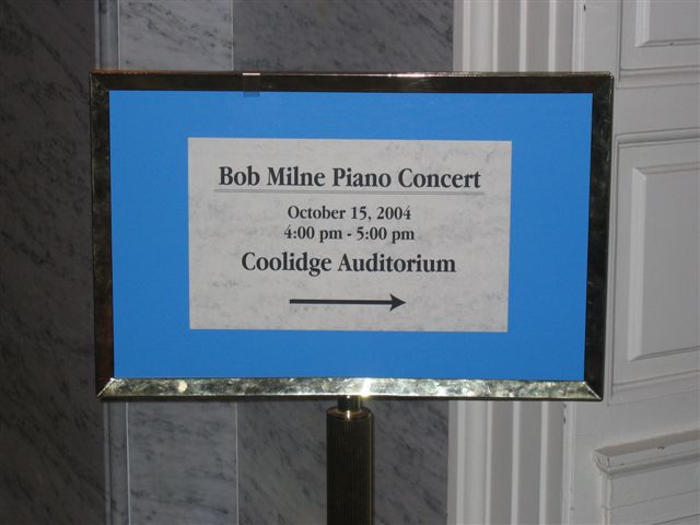 Concert Sign at the Library of Congress