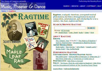 LOC Ragtime Web Page