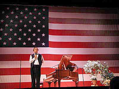 Bob at the Elco Theater in Elkhart, Indiana on Sept. 13, 2001